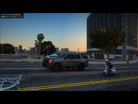 Tuần tra bằng xe Chevrolet Tahoe 2021 và  còi ưu tiên mới [Mod cảnh sát LSPDFR GTA 5 tập 4]