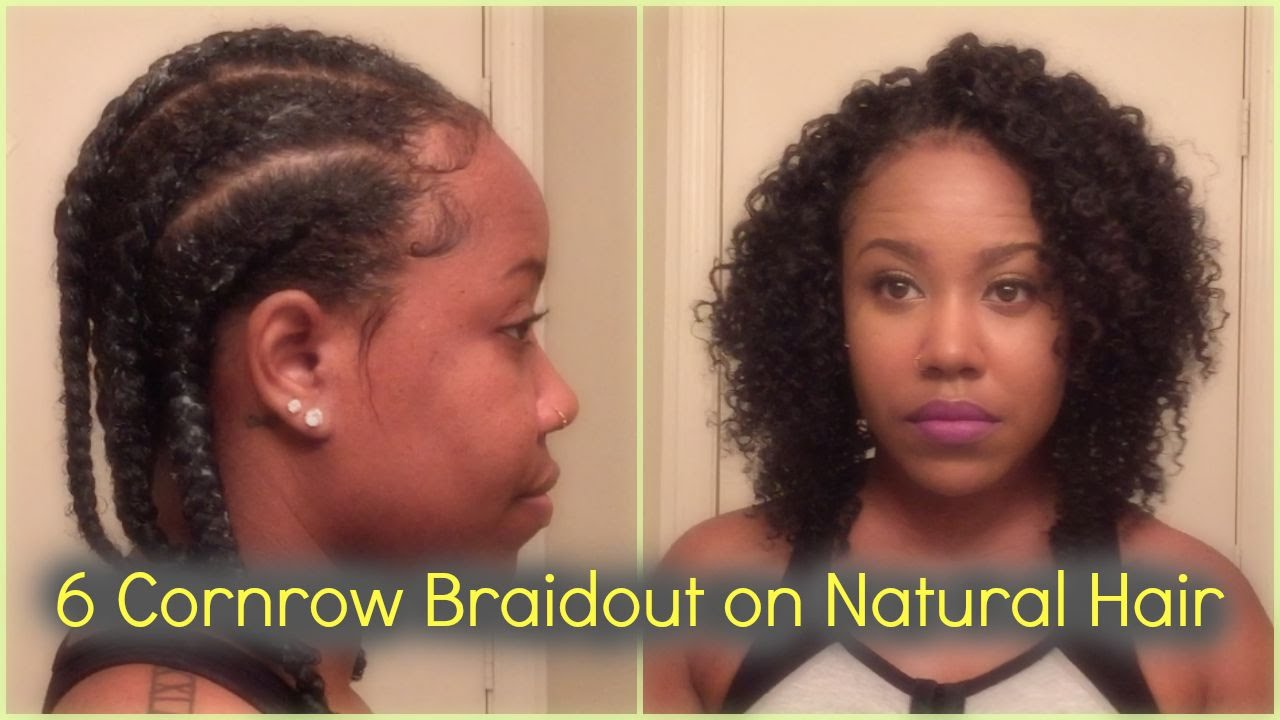 Cornrow Braidout On Natural Hair Perfect For Transitioning Youtube