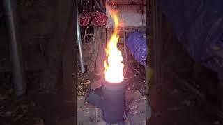 LPG가스통스토브 불멍