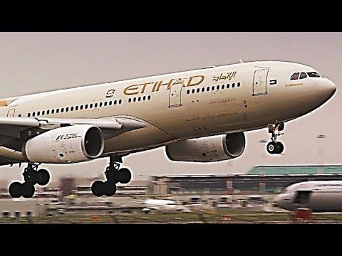 Heavy landings @ Rome FCO Airport (Feb 2017) - A330, A340, A350, A380, B777