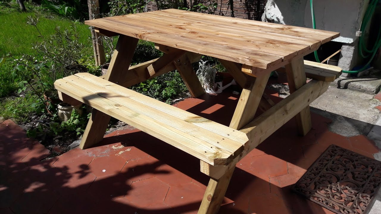 DIY - picnic table from start to end