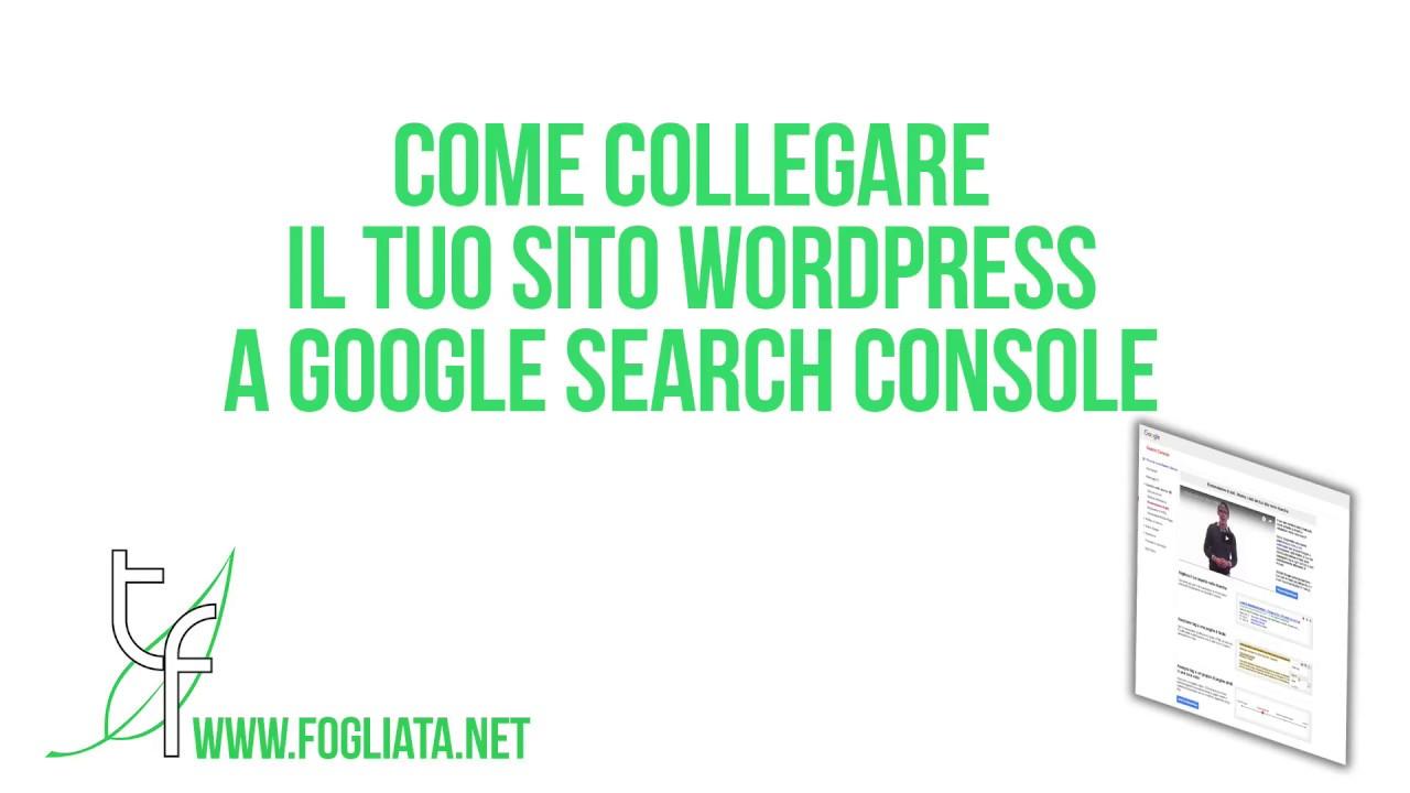 Come collegare e verificare un sito WordPress su Google Seach Console