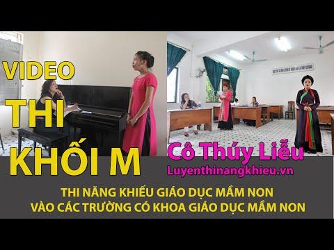 Video thí sinh THI NĂNG KHIẾU KHỐI M - Trực tiếp tại phòng thi GDMN thi nang khieu