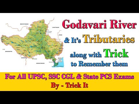 Godavari River and It's Tributaries with Trick to Remember them