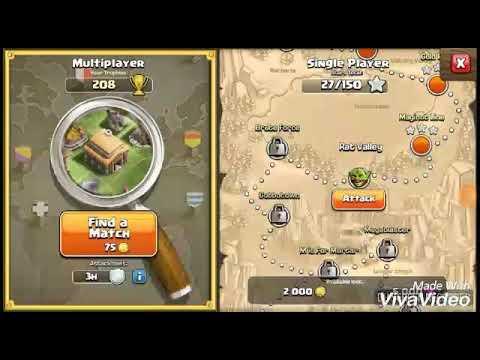 Clash Of Clans (COC) - Rat Valley ( Level 10 Single Player ) Walkthrough