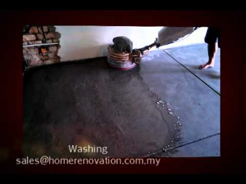Cement /Concrete Floor Polishing Malaysia Video