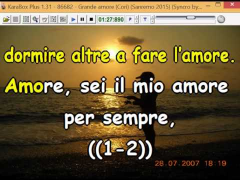 Il Volo - Grande amore (Cori) (Sanremo 2015) (Syncro by CrazyHorse1965) Karabox - Karaoke