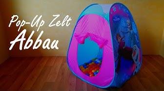Abbau, Pop Up Spielzelt (Elsa & Anna)