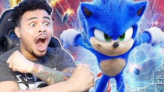 SONIC LOOKS SO GOOD!! Sonic The Hedgehog (2020) New Official TRAILER REACTION!