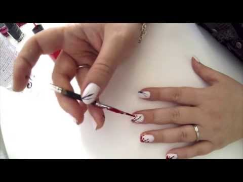 Nail art vernis blanc