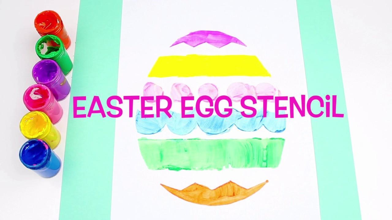 Easter Egg Stencil Youtube