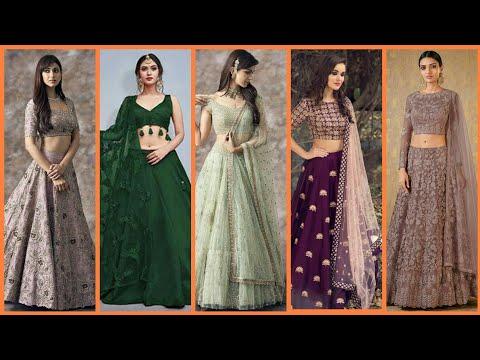 Gorgeous and beautiful stylish Indian lehenga kurti designs 2019