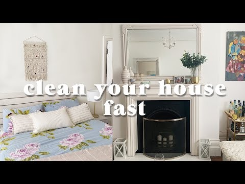 How to clean your house FAST (Clean your home in under an hour!)