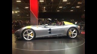 Ferrari Monza SP1: à l'ancienne (en direct du Mondial de l'auto 2018)