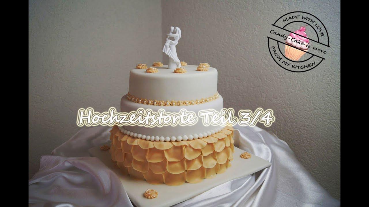 Hochzeitstorte Teil 3 4 Wunderkuchen Mit Kasesahne Gefullt Obere