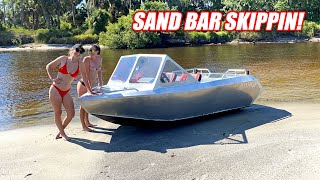 BEST BOATS EVER!!! Taking Our Supercharged Mini Jet Boats On SUPER Shallow River Trails!