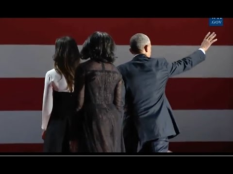 Download Obamas & Bidens Wave Goodbye To Crowd At Farewell Address In Chicago Snapshots