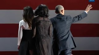 Obamas & Bidens Wave Goodbye To Crowd At Farewell Address In Chicago