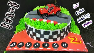 How To Make Car Cake | Fancy Cake Sunil Cake master cake Wala car cake