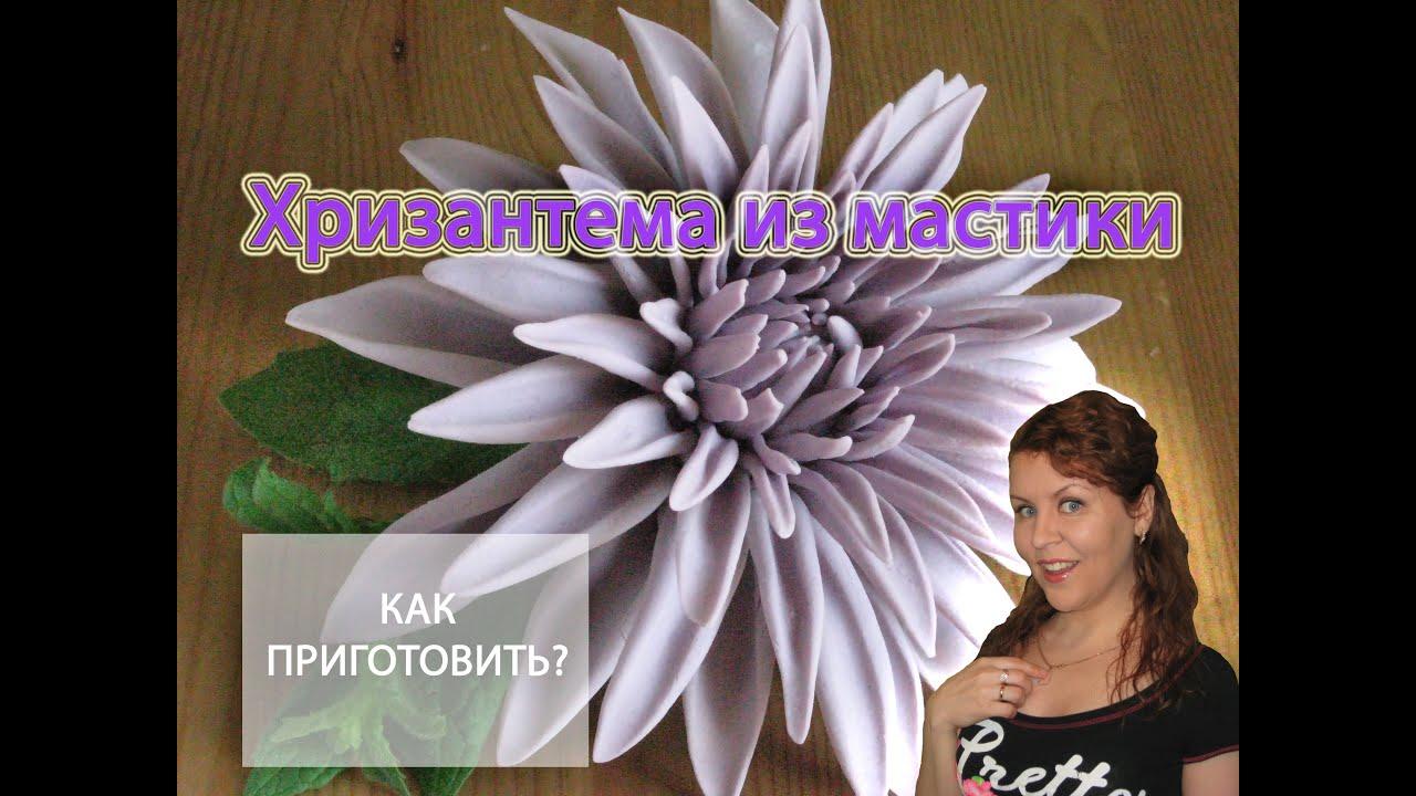 Как сделать хризантему из мастики