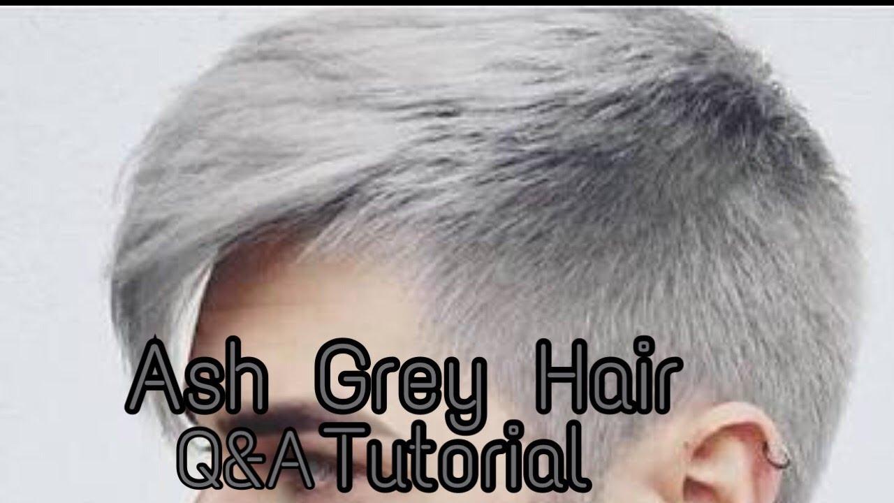 Cara Mudah Cat Rambut Abu Abu Silver Atau Ash Grey Dengan Benar Dirumah Youtube