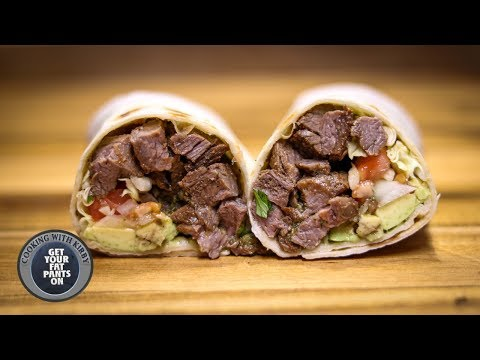 Carne Asada Burrito – Mexican Food – Blackstone Griddle
