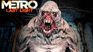 Metro Last Light Redux Gameplay: Ranger Hardcore Monsters & Ghost Tunnel