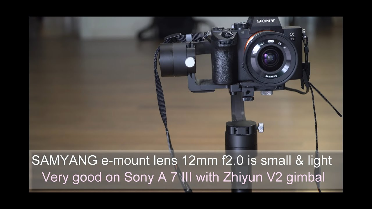 Samyang 12mm f2 0 aps-c lens on Sony A7 III