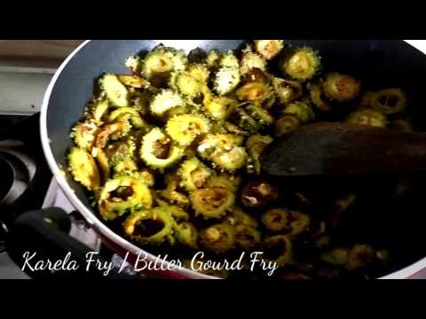 Karela Fry / Bitter Gourd Fry (Without Onions)/ curry without tomato