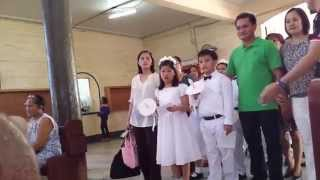 Cherished Moments School CMS: First Holy Communion by grade 3 December 2014, entrance
