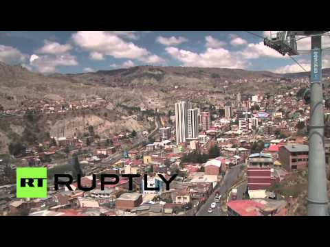 Bolivia: Take a ride on world's HIGHEST urban cable car