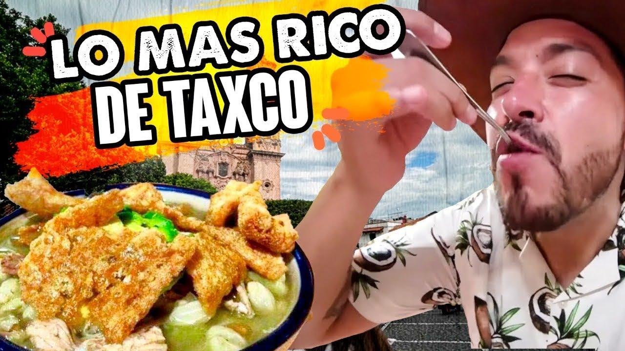 Comimos Taquitos Roy, el especial Mole Rosa y un Insecto llamado Jumil en Taxco, Guerrero