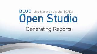 Video: BLUE Open Studio: Generating Reports