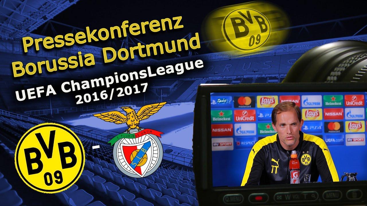 Borussia Dortmund - Benfica Lissabon: Pk mit Thomas Tuchel