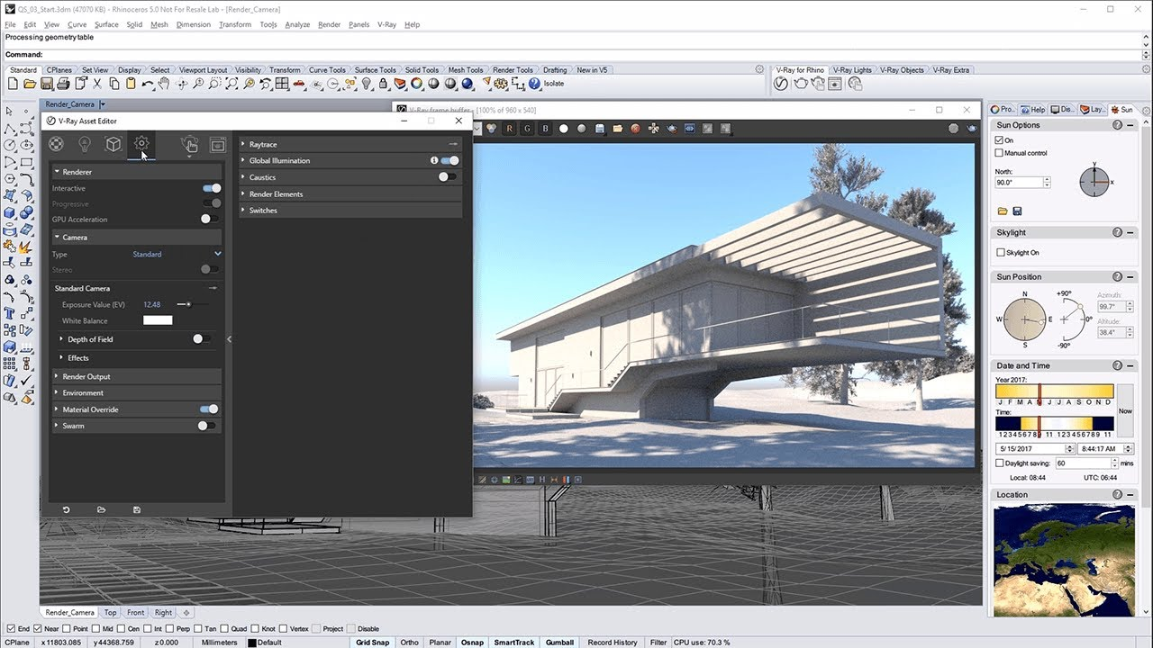 V-Ray for Rhino – Quick Start: Exterior Lighting