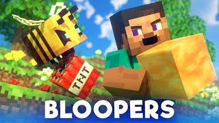 Bees Fight: BLOOPERS - Alex and Steve Life (Minecraft Animation)