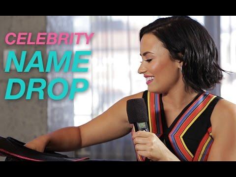 Demi Lovato Plays Celebrity Name Drop