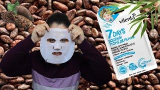 Тканевая маска для лица с ивой и какао бобами Бодрый понедельник 7days