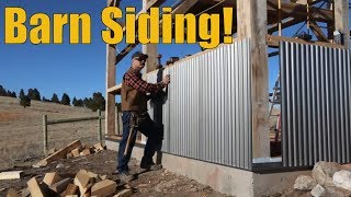 Steel Siding on the Timber Frame