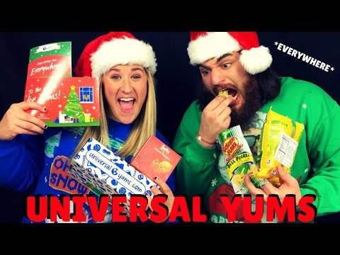 AMERICAN'S TRY TREATS AROUND THE WORLD | Universal Yums
