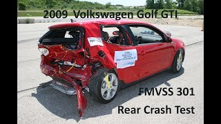 2006-2009 Volkswagen GTI (Golf) FMVSS 301 Rear Crash Test (50 Mph)