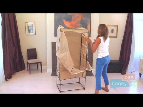 Honey-Can-Do WRD-01270 27-inch Portable Storage Wardrobe Instruction Video