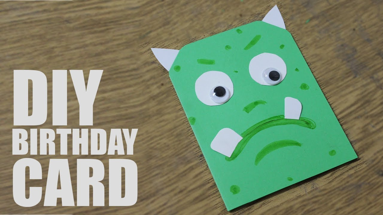 How To Make A Greeting Card For Birthday For Kids Handmade Cards