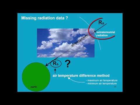 Determination of reference evapotranspiration AquaCrop - Training module Nr. 2.3, April 2016