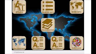 WorldPro - Countries Capitals Flags - Map Puzzles Quiz History (PC / Mac / Android)