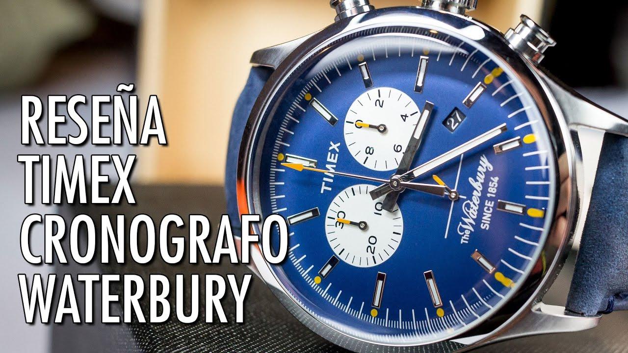 3c2c17ccc719 Reseña Timex Cronógrafo TW2P75400 The Waterbury Collection Reloj Analógico  de Cuarzo en Español