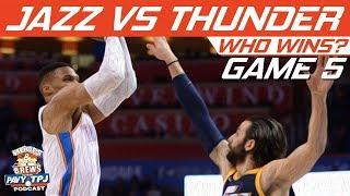 Utah Jazz vs OKC Thunder | Game 5 | Who will win ? | Hoops N Brews