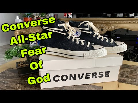 Converse Chuck Taylor All-Star 70s Hi Fear Of God Black Natural Unbox And On Feet 🔥