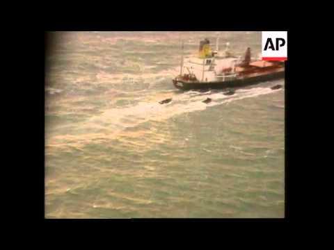 Anti-terrorist police board ship in English Channel + Blair reax