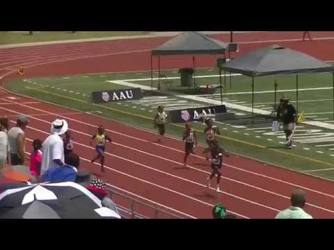 8yr Tamra Houston 30.28s 200m Semi 1 AAU Junior Olympics 2016